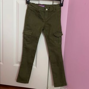 Kids navy green jeggings from Old Navy's